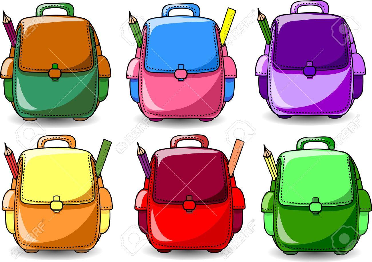 Bag cartoon pencil and. Bookbag clipart bagpack