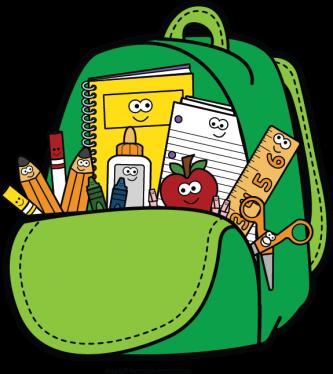 Bookbag clipart bagpack. Bag pencil and in