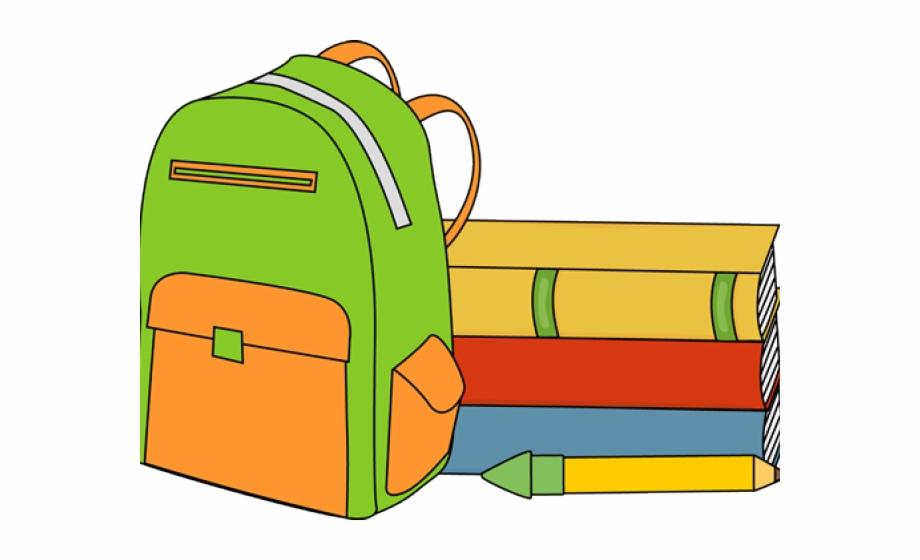 Backpack full book bag. Bookbag clipart bagpack