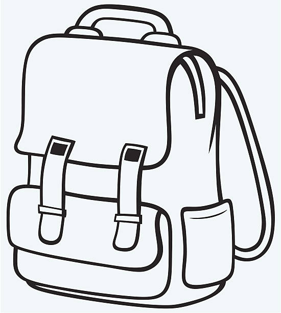 Of book bag athlone. Bookbag clipart black and white