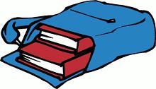 Panda free images. Bookbag clipart blue bag