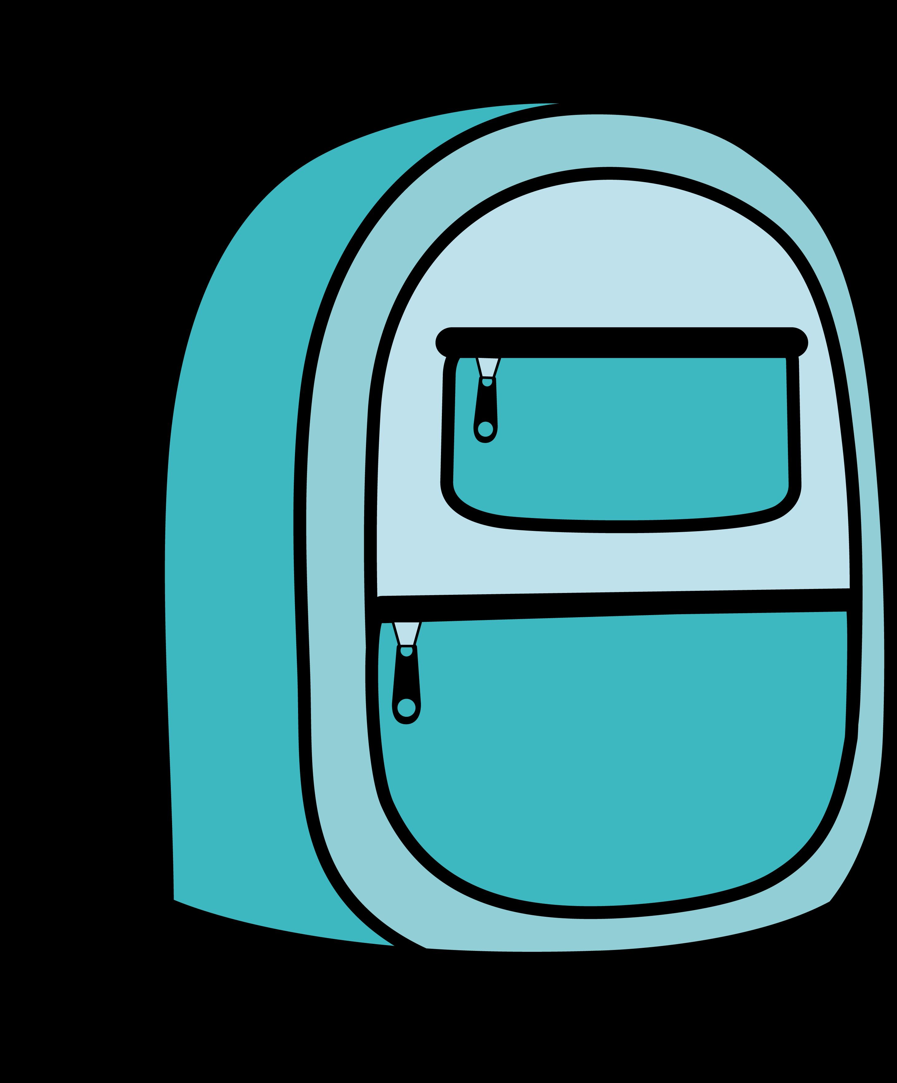 Kids school backpack free. Bookbag clipart blue bag