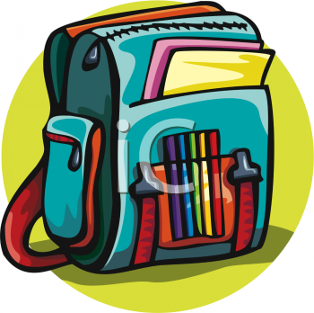 School panda free images. Backpack clipart open