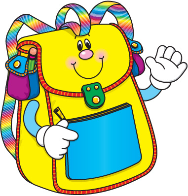 collection of school. Bag clipart cute
