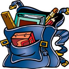 Math and reading clip. Bookbag clipart classroom