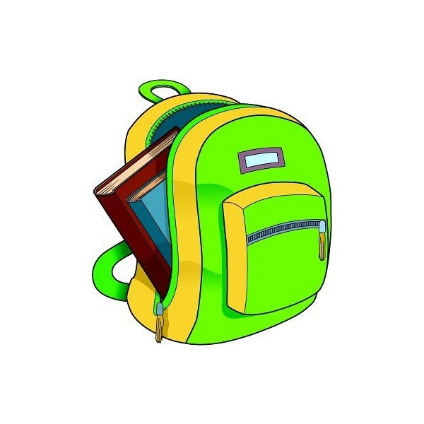 Bookbag clipart classroom. School backpack panda free