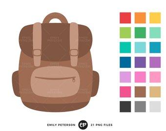 Clip etsy art book. Bookbag clipart cute backpack