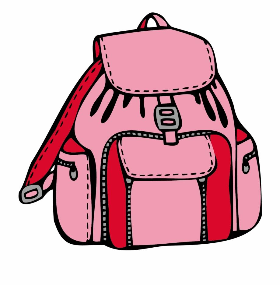 Coloring book bag pink. Bookbag clipart cute backpack