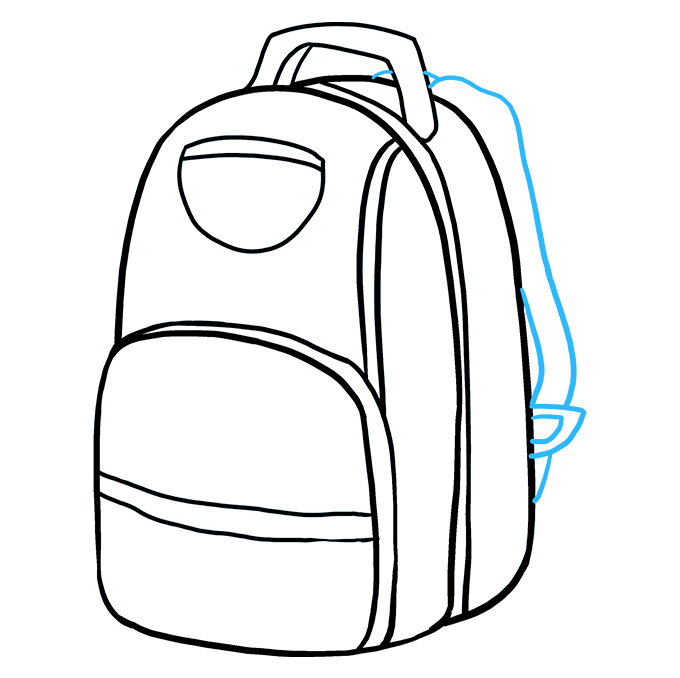 Bookbag clipart drawing. How to draw a
