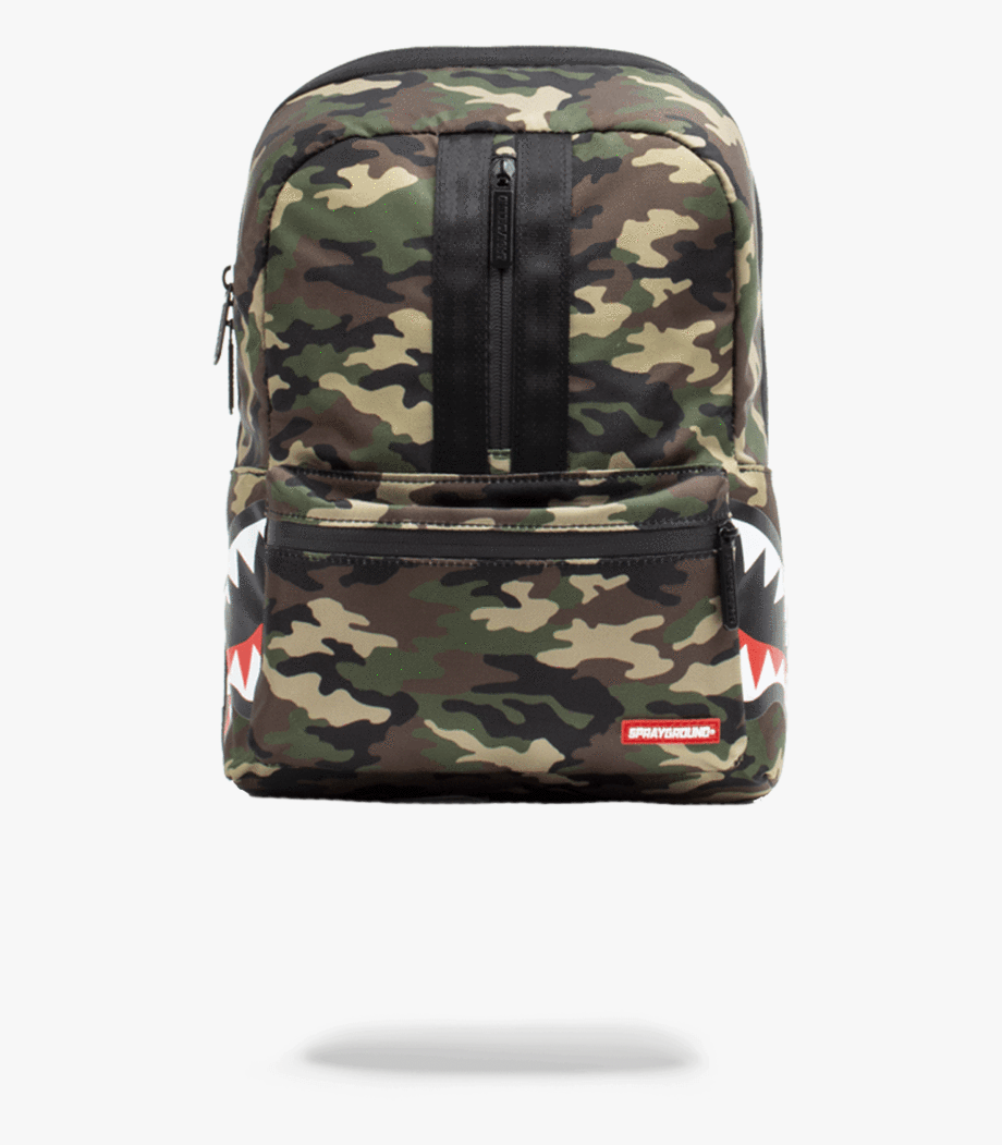 Army backpack sprayground one. Bookbag clipart drawing