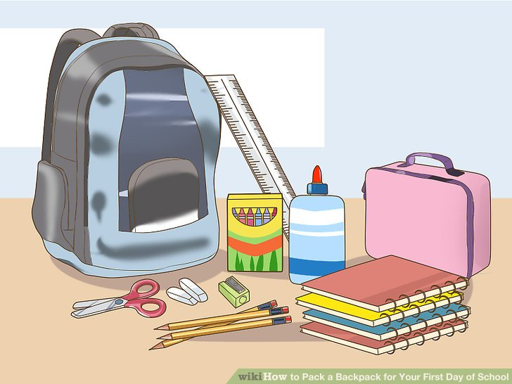 How to pack a. Backpack clipart school supply