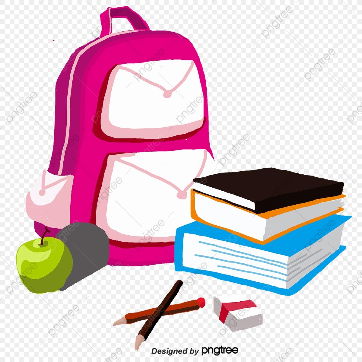 Book bag vector png. Bookbag clipart green backpack