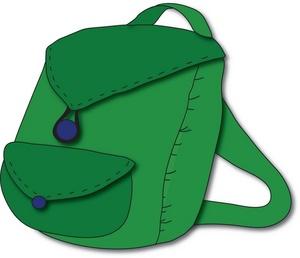 Free gclipart com . Bookbag clipart green backpack