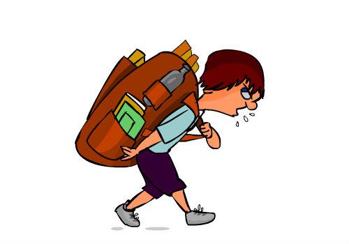 Bookbag clipart heavy. Del corpo angela our