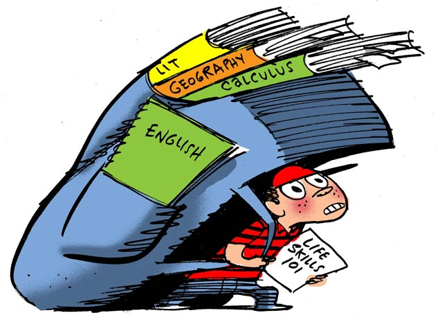 Bookbag clipart heavy. Six ways to spot