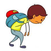Backpack tiga site adventure. Bookbag clipart heavy