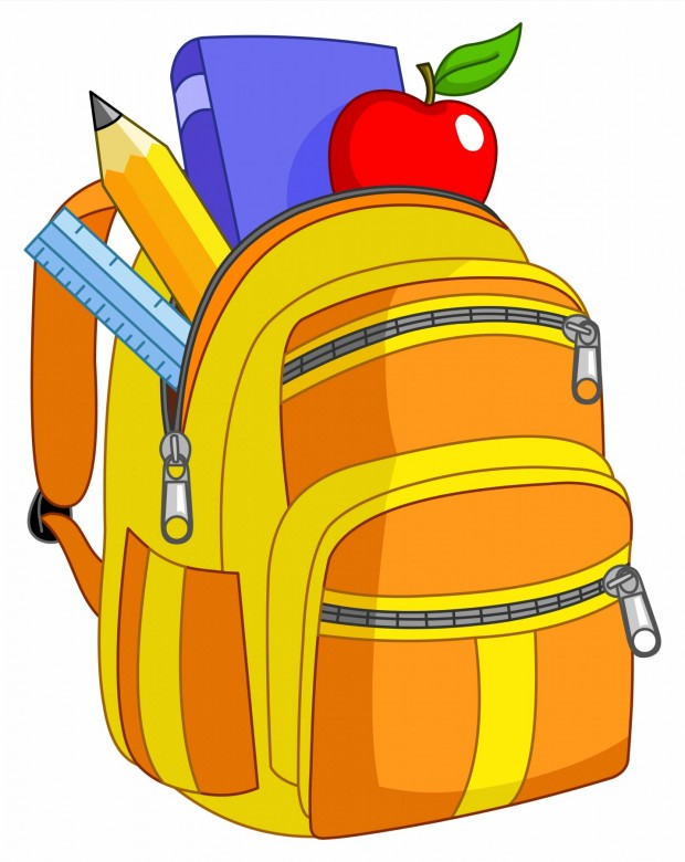 Bookbag clipart homework. Cartoon school bag cocomilo