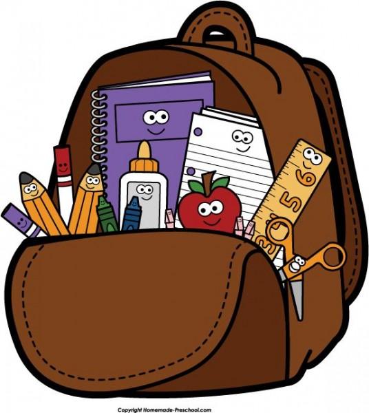Bookbag clipart homework. Backpack nice clip art