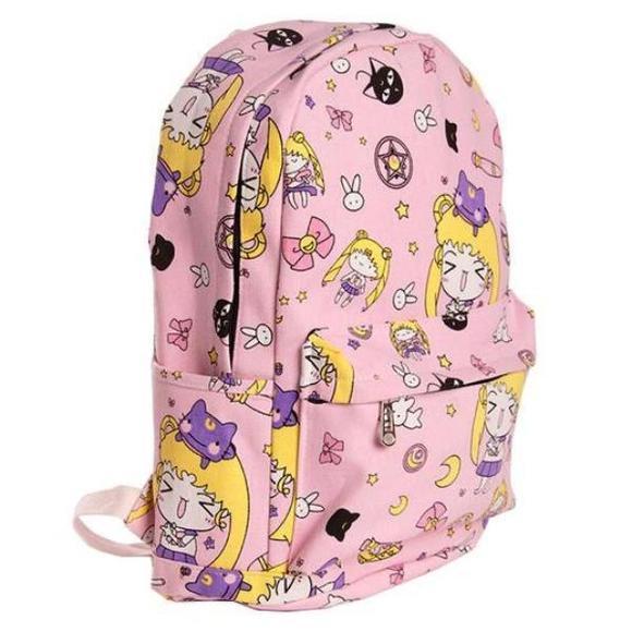 Bags backpacks coin pouches. Bookbag clipart kawaii