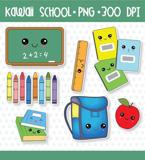 off sale classroom. Bookbag clipart kawaii