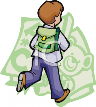 Bookbag clipart kid. Picture of a schoolboy