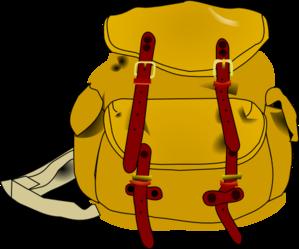 Backpack clip art at. Bookbag clipart knapsack