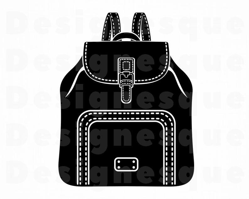 Bookbag clipart knapsack. Backpack svg school files