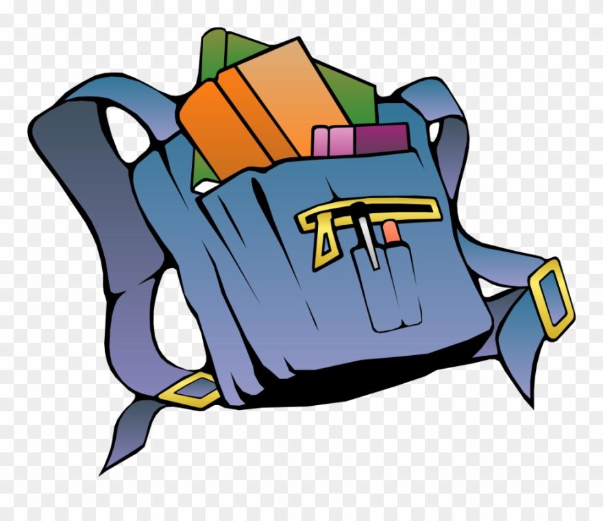 Bookbag clipart library bag. Clip art books in