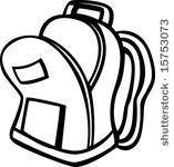 Backpack panda free images. Bookbag clipart open