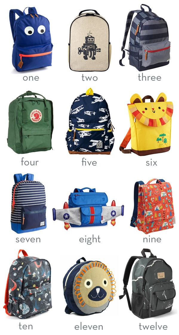 Bookbag clipart organized backpack. Little style backpacks for