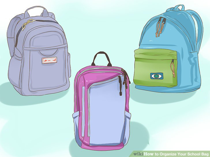 Bookbag clipart organized backpack. How to organize your