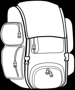 Backpacks drawing at getdrawings. Bookbag clipart outline