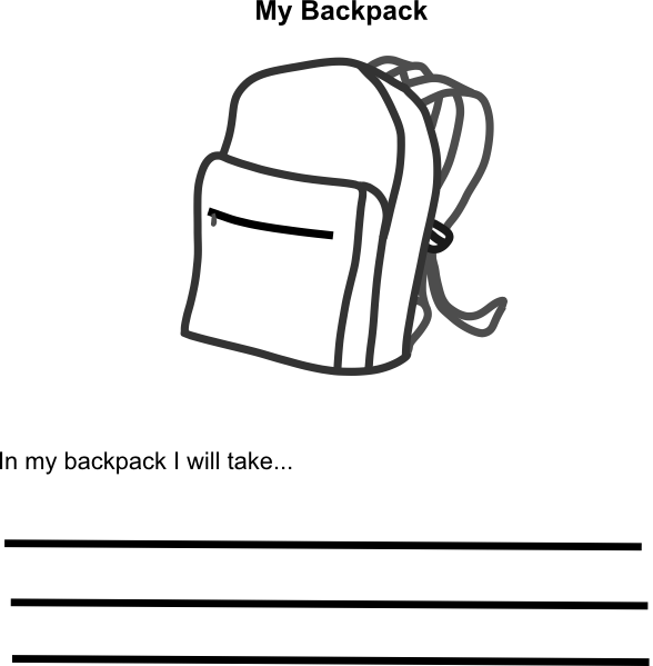In my clip art. Backpack clipart line drawing