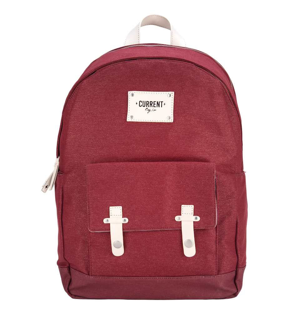Current bag co move. Bookbag clipart red