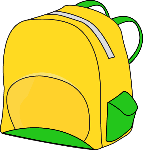 Book bag image group. Backpack clipart plain