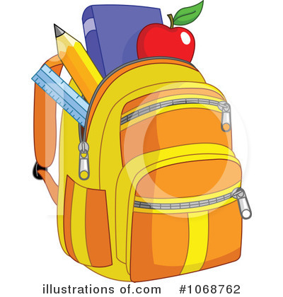 Bookbag clipart thing. Backpack illustration by yayayoyo