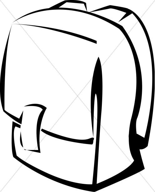Black and white school. Bookbag clipart thing