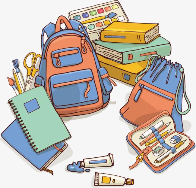 Poster book bag creative. Bookbag clipart vector
