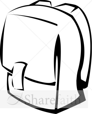 Bookbag clipart. School backpack panda free