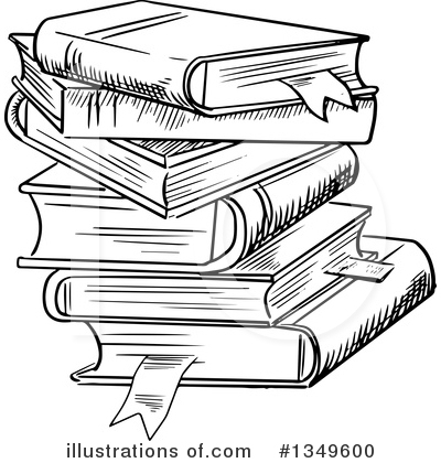 Books clipart. Illustration by vector tradition