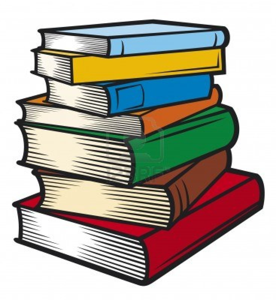 Books clipart animated. Pile of