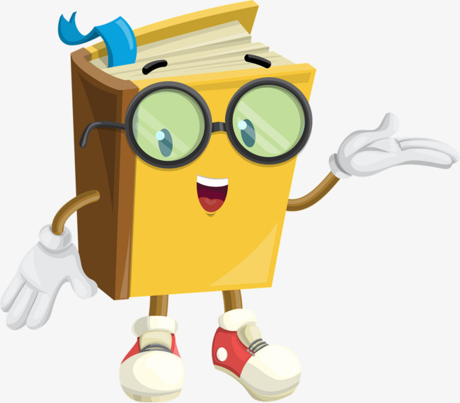 Books clipart animated. Bespectacled cartoon bookmarks animation
