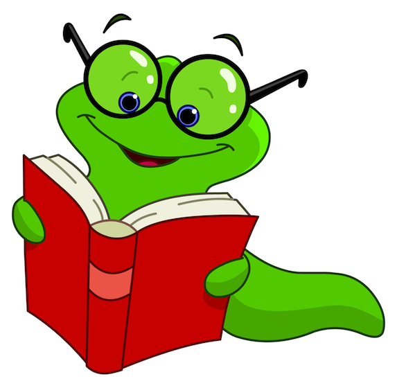 Worm clipart review time. Book our pencil and