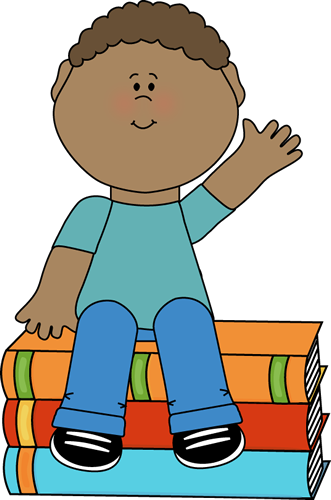 Boy sitting on books. Caroling clipart my cute graphics