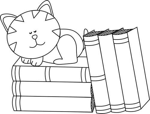 Book clip art images. Books clipart black and white