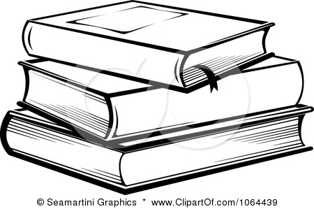 Stack of panda free. Books clipart black and white