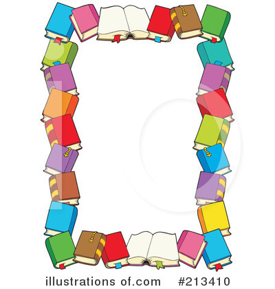 Illustration by visekart . Books clipart borders