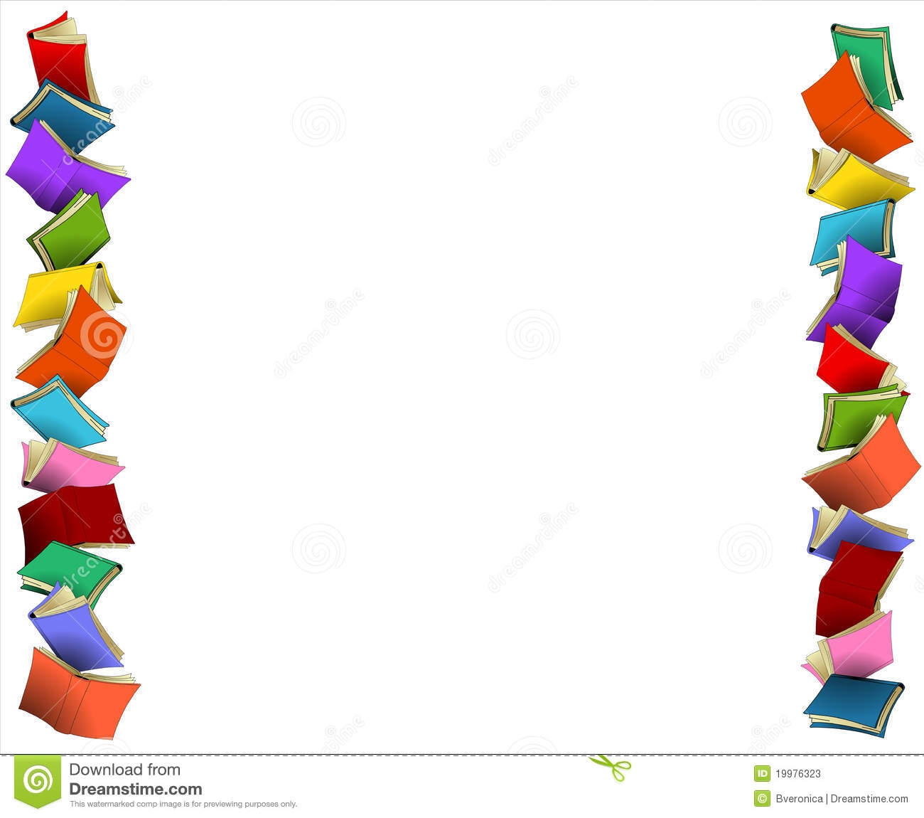 Clip art intended for. Books clipart borders