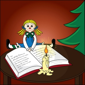 Book clipart candle. Free christmas image scene