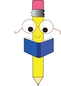 Books clipart cartoon. Pencil and book panda